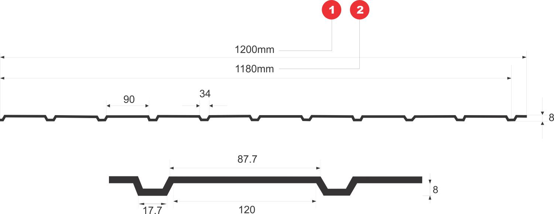 profil tabla cutata bilka t8
