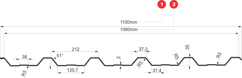 profil tabla cutata t35 bilka